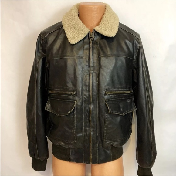 2bd9faa01ef Levi s Other - Levi s Bomber Jacket Sherpa Lined Faux Leather MED